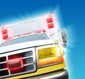 Carro de la ambulancia del rescate 911 fotografía de archivo
