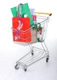 Carro de la carretilla de las compras Fotografía de archivo libre de regalías