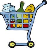 Carro de la compra Foto de archivo libre de regalías