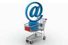 Carro de la compra con en Rate Symbol Imagen de archivo libre de regalías