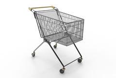 Carro de la compra (negro) Fotografía de archivo libre de regalías