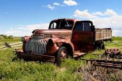 Carro de la granja de la vendimia Imágenes de archivo libres de regalías