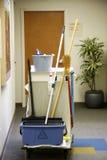 Carro de la limpieza Imagen de archivo
