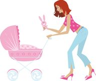 Carro de la madre y de bebé