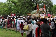 Carro de la procesión del palkhi de Sant Tukaram, Maharastra, la India imágenes de archivo libres de regalías
