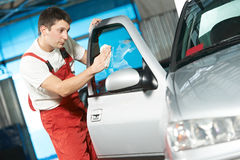 Carro de lavagem do auto líquido de limpeza do serviço Foto de Stock