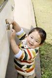 Carro de lavagem do menino Fotografia de Stock