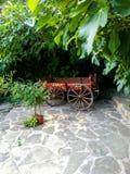 Carro de madeira fotografia de stock royalty free