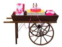 Carro de madeira Imagens de Stock