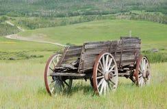 Carro de madeira antigo Imagens de Stock Royalty Free