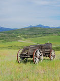 Carro de madeira antigo Imagem de Stock Royalty Free