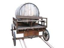 Carro de madeira com um barril. Imagem de Stock Royalty Free