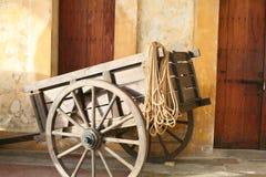 Carro de madeira do vagão Imagens de Stock Royalty Free