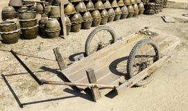 Carro de madera sucio Imágenes de archivo libres de regalías