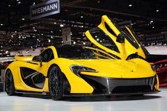 McLaren P1 - Exposição automóvel 2013 de Genebra imagens de stock royalty free