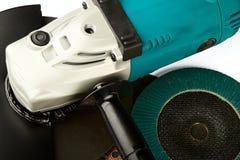 Carro de moedura e discos abrasivos Foto de Stock Royalty Free