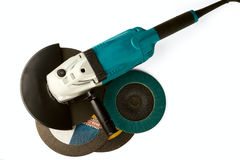 Carro de moedura e discos abrasivos Imagem de Stock Royalty Free