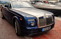 Carro de motor Rolls royce Phantom Drophead Coupe foto de stock