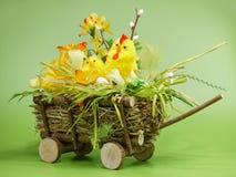 Carro de Pascua Imágenes de archivo libres de regalías