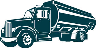 Carro de petrolero de gasolina y aceite Imágenes de archivo libres de regalías