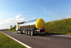 Carro de petrolero del combustible Imagenes de archivo