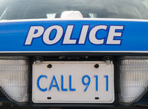 Carro de polícia 911 Foto de Stock Royalty Free