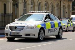 Carro de polícia de Londres (vista dianteira) Imagem de Stock Royalty Free