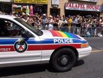 Carro de polícia de Ontário na parada do orgulho de Toronto imagem de stock