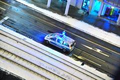 Carro de polícia de pressa Fotos de Stock