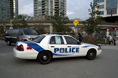 Carro de polícia de Vancôver Fotografia de Stock Royalty Free