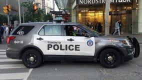 Carro de polícia em Toronto fotos de stock