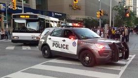 Carro de polícia em Toronto imagem de stock royalty free