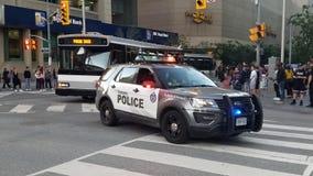 Carro de polícia em Toronto foto de stock royalty free