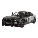 Carro de polícia Esporte e estilo moderno Isolado na ilustração 3D branca Imagem de Stock