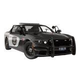 Carro de polícia Esporte e estilo moderno Isolado na ilustração 3D branca Imagens de Stock Royalty Free