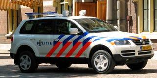 Carro de polícia holandês Fotografia de Stock Royalty Free