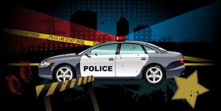Carro de polícia - ilustração Fotografia de Stock Royalty Free
