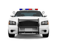Carro de polícia isolado Imagens de Stock
