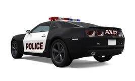 Carro de polícia isolado Foto de Stock Royalty Free