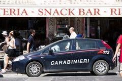 Carro de polícia italiano (Carabinieri) 112 Imagens de Stock