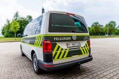 Carro de polícia militar alemão Fotos de Stock Royalty Free