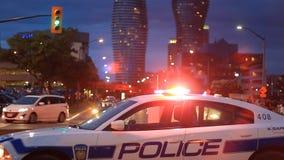 Carro de polícia Mississauga vídeos de arquivo