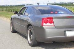 Carro de polícia não marcado imagem de stock royalty free