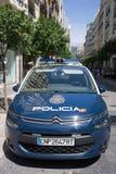 Carro de polícia nacional da Espanha Imagens de Stock Royalty Free