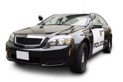 Carro de polícia no ângulo dos três quartos Foto de Stock Royalty Free