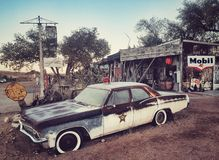 Carro de polícia velho Fotos de Stock Royalty Free