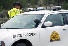 Carro de polícia da polícia estadual Imagens de Stock Royalty Free