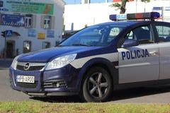 Carro de polícia polonês Foto de Stock Royalty Free