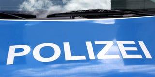 Carro de Polizei Fotos de Stock