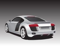 Carro de prata ilustração royalty free